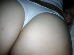 My friend taped on cam his sexy wife's juicy bubble ass in thongs