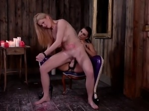 extra busty sub slut tasha holz gets straponed by mean mistress anna polina