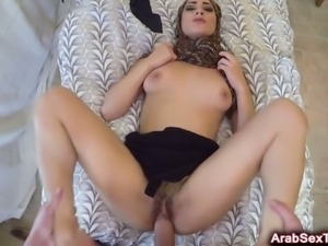 Arab cutie banged with big dick