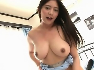 Busty Japanese boobs teasing