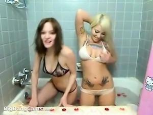 Ebony lesbian teen hotties lick the pussy pie hard