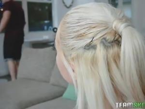 Greedy for cum blonde Jessica Jones enjoys having dirty sex with one kinky dude