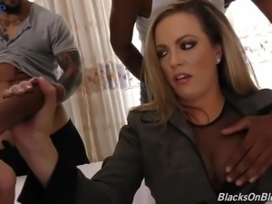 Depraved MILFie housewife Carmen Valentina needs five black cocks for sex