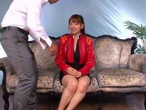 Furumai Aoi lets a guy finger her tight pussy for an orgasm