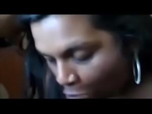 Cute Indian BBW Sucking A Big Black Cock