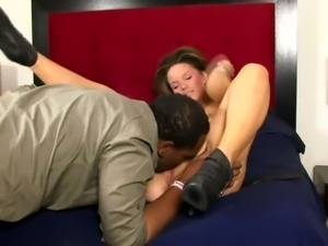 Alexxxa May is craving a big black cock and this slut fucks like crazy
