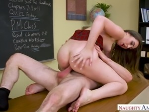Hot babe Lexi Lovell has sex with her professor to get good grades