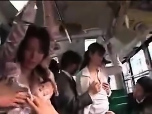 Asian wifes groped to orgasm on bus 1- More On HDMilfCam.com