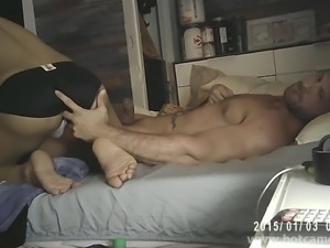 Muscular White and Latin Gay Couple Massage and