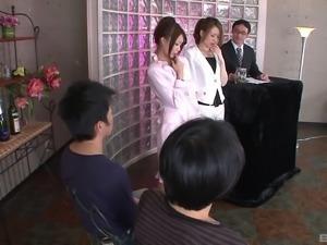Yuri Aine and Yuu Sakura are elegant chicks craving fat boners