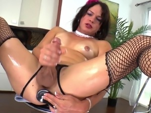 Adorable TS Gina Hart Masturbates In A Solo Model Video