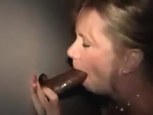 Glory Hole Blonde Slut is a Blowjob Master