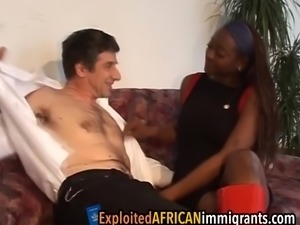 German guy fell in love with this hot ebony chick instantly