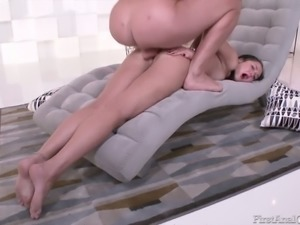 Sexy babe Angelina Mori is super fond of anal sex and she likes rough sex