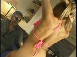 Monica Sweetheart knows how to strip like a pro and she loves big cocks