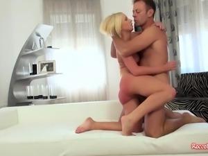 Little blonde bitch likes it hard