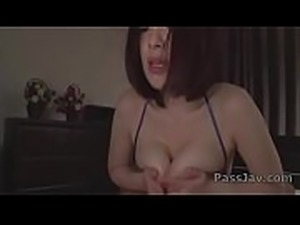 Koyomi Yukihira kneels in front of two big cocks