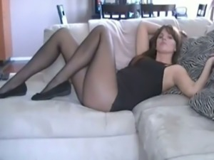 My girlfriend's gorgeous sexy legs were made for pantyhose