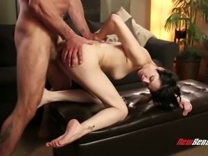 Brunette slut Cadey Mercury is a skilled cocksucker and she loves a good fuck