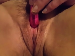 Stunning close up pussy toying
