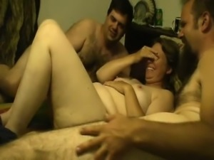 Fat Blonde Gangbang