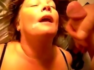 Mature woman shares her facials
