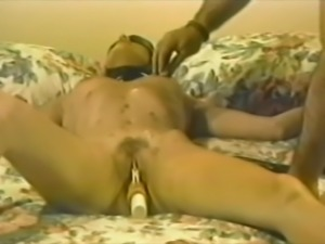 Retro BDSM with a horny sex slave that stands the pain