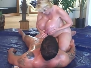 Kayla Kleevage has got enormous tits and she knows how to use them during sex