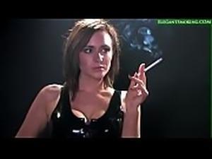Sexy Jenna J Smokes All Whites 120s Wearing Latex