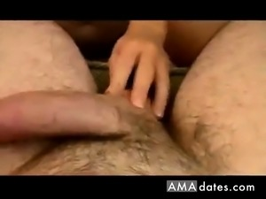 Redhead prefers sperm first in the condom then mouth
