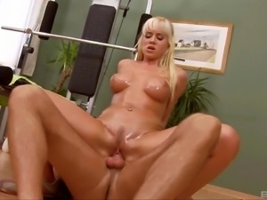 Cindy Dollar is an oiled up babe in need of a great fuck