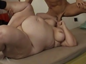 SSBBW slut loves to fuck muscular man and she loves having her tits played with