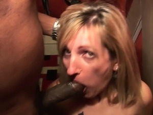 Horny amateur milf in interracial scene