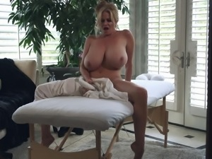 Kelly Madison wants to feel a masseur's erected tool