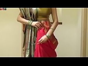 How To Tie Seedha Palla Saree   Wear Gujrati Style Sari Beautifuly [720p]