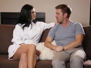 Attractive curvaceous MILFie masseuse Jasmine Jae gets fucked doggy