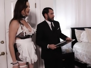 Is it possible to control yourself when a seductive maid appears in front of...