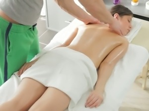 Fantina needs an erotic massage with attention to her divine fuckhole