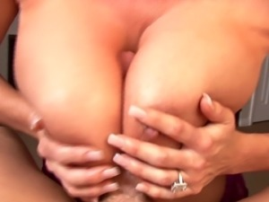 Skillful MILF Kelly Madison chokes on a cock before riding it