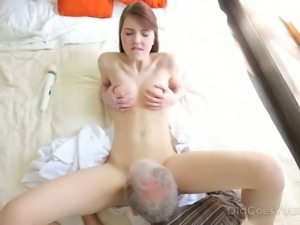 Geny loves older men and she is a role model for all cock loving sluts