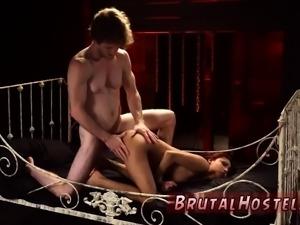 Bondage pussy fisting and rough wild black sex Poor lil' Jad