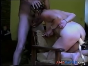 Mature amateur couple with with handcuffs