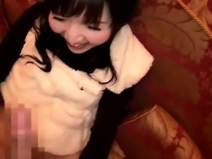 Cute Japanese Girl Masturbation Blowjob