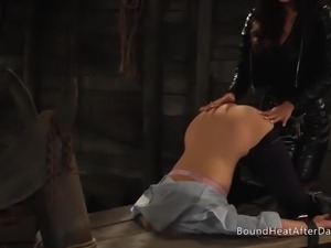 The Submissive: Whip Her Naughty Bound Butt