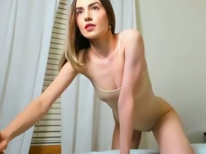 This camslut looks incredibly hot in her see through bodysuit