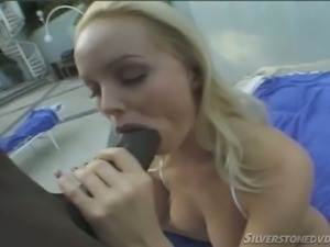 Incredibly voracious busty pale Czech nympho Silvia Saint sucks stiff BBC