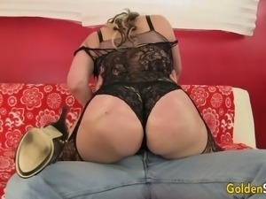 Sexy looking huge breasted lady Savannah Jane wanks fat yummy cock