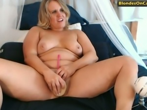 This chubby blonde oozes naughtiness and she's really sexy