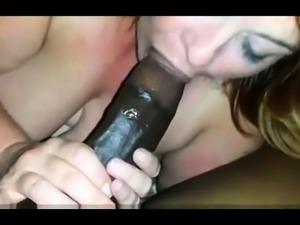 Big boobed mature gives handjob