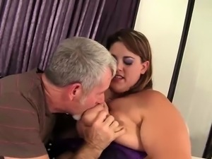 Heavy Harlot Has Her Mouth and Pussy Fucked